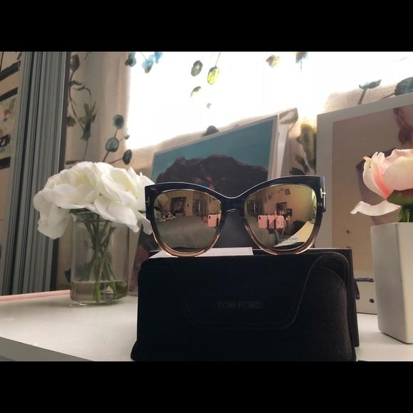 59a5637c996 Tom Ford Anoushka 57 Gradient Cat Eye Sunglass